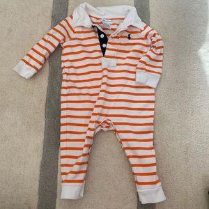 🏇🏼 2 for $20 Ralph Lauren Orange Stripe Romper